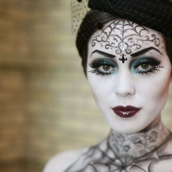 halloween makeup idéer witch-elegant design