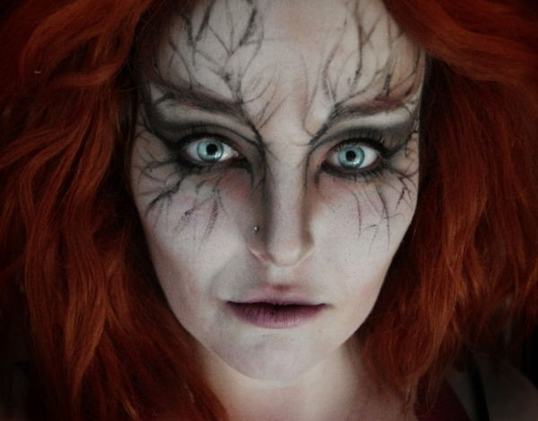 Halloween makeup idéer-witch-intressant-look