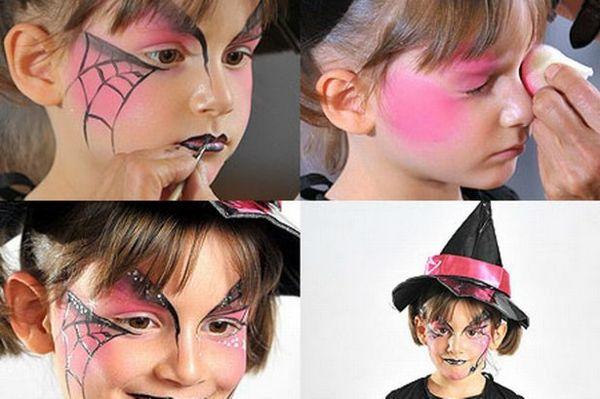 witch-fyra-cool tapet halloween-make-up av idéer