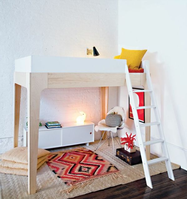 High-bedden met-trap-for-small-spaces