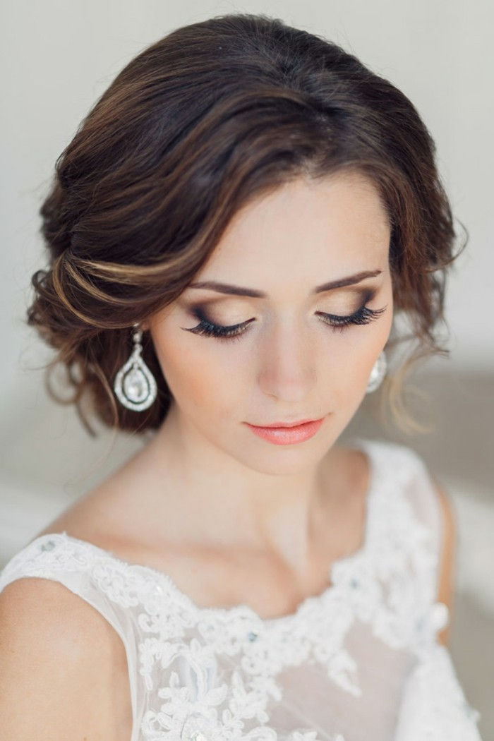 Wedding make-up make-up-con-marrone-beige-and-arancio-birre-orecchini-diamonds