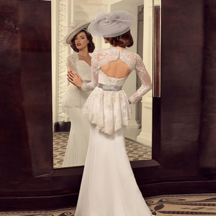 42b026efb671 Vintage brudekjole  drama