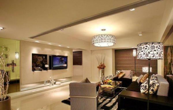 Plafoniera Per Soggiorno Bianco : Foto di plafoniere per il soggiorno