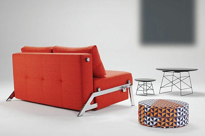 Sofá Compacto Praticamente Dormir Tomates Função Da Cor Vermelha De Café  Fezes Móveis De Mesa Requintada