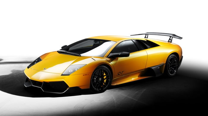 tapet lamborghini super-model in-galben-culoare