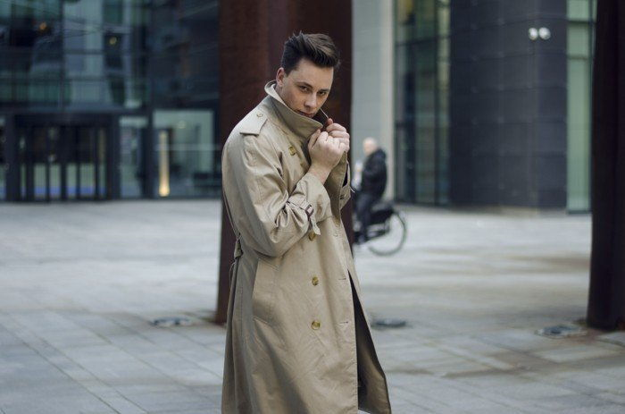 lång Burberry trenchcoat-by-Män