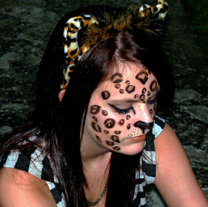 Leopard face-trucco-sweet-girl-with-fantasia-orecchie