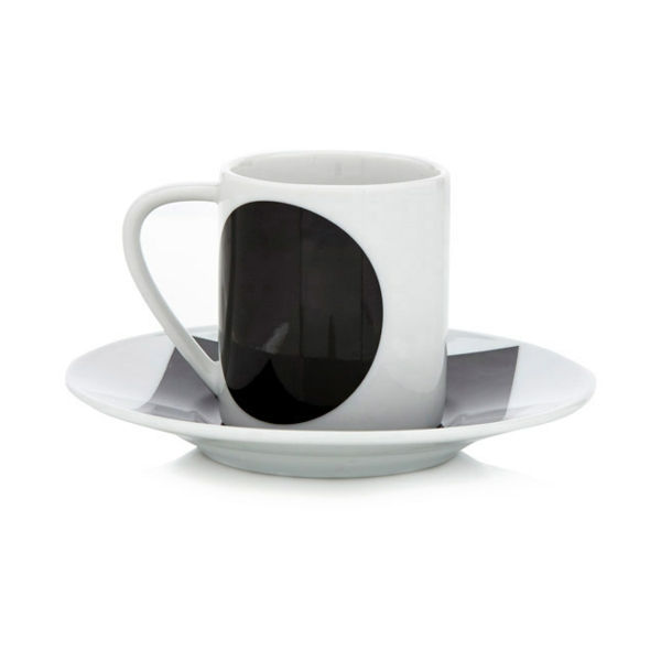 Espressotassen Schwarz Weiß