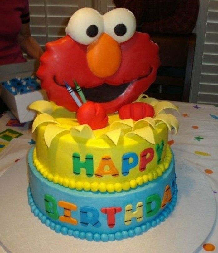 patys-priėmimo Child-pyragai-yourself-make-Elmo-surprise- motyvas pyragai