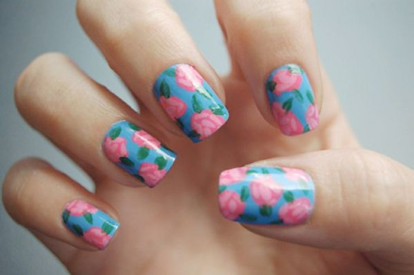 Nail design-for-pomlad-roza-in-modra