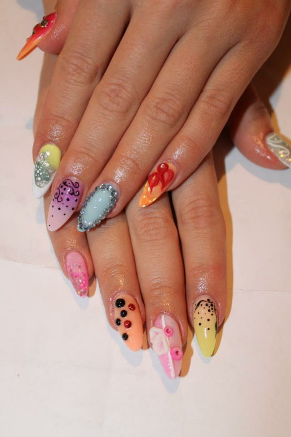 Nail design-for-pomlad-zelo fancy