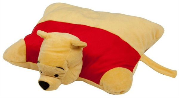 original-design-of-pillow-winnie-pooh-bakgrund i vitt