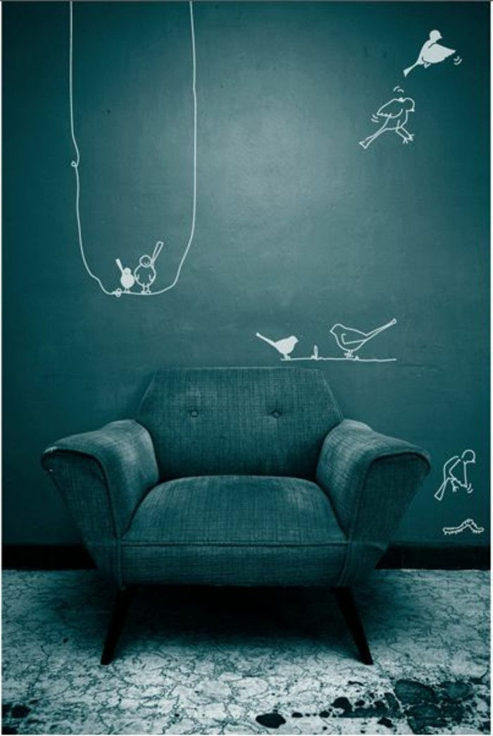 Charmant Gasolina Na Parede Cor Moderna Chair And Criativo Parede Projeto