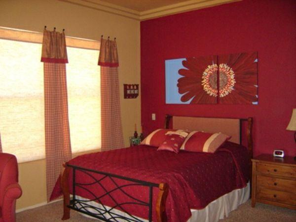 Rode Slaapkamer Ideeen : Slaapkamer decoratie muur mooi slaapkamer met leuke decoratie