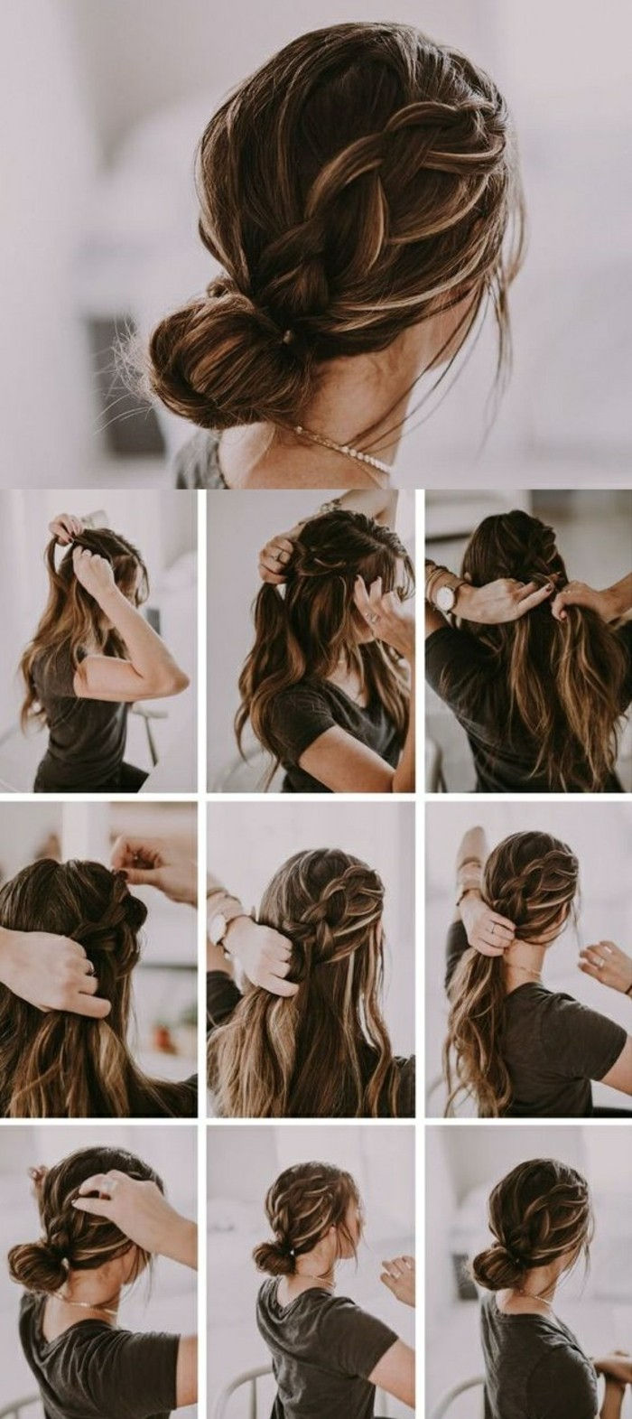 Dokonaj-fast-fryzury-dark brown-hair-warkocz-tie-updo-yourself