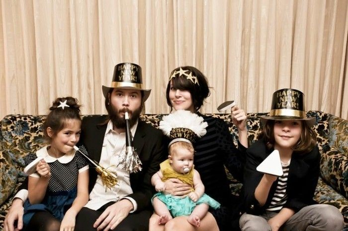 New Year's met-kinderen-a-common-familie