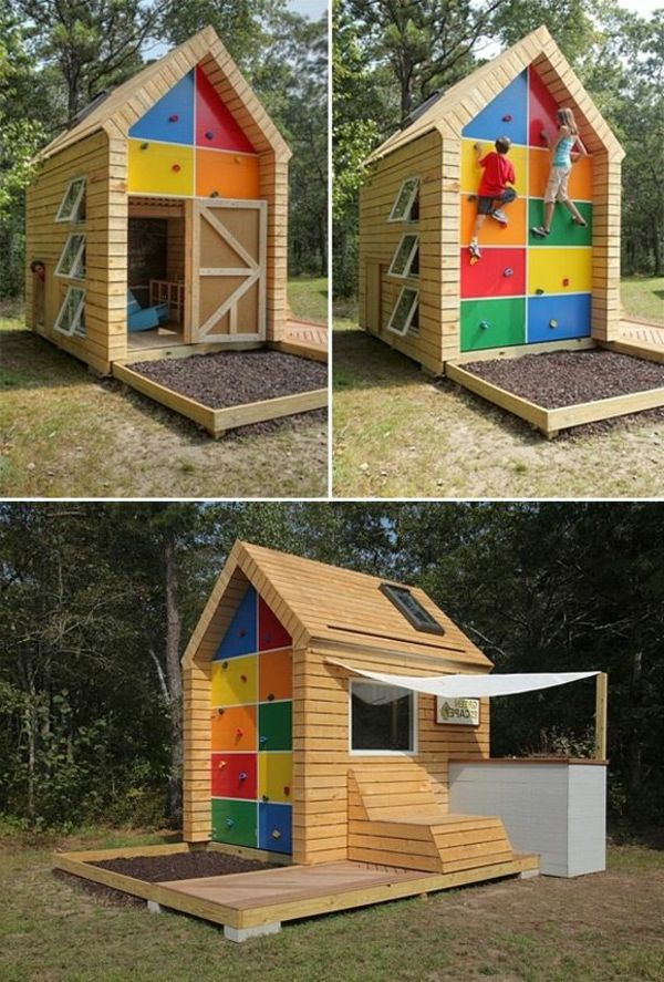 Playhouse-cu-alpinism perete-super-design-joc-in-gradina