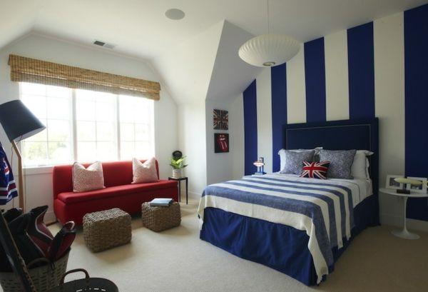Pareti A Righe Blu : Strisce consigliate pareti a strisce o carta da parati a righe in blu