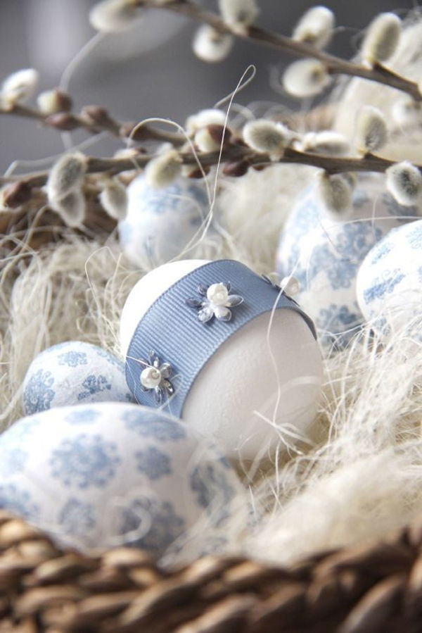 tischdeko-for-spring-idee-for-easter-eggs-Tischdekoration