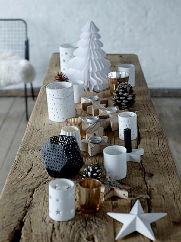 크리스마스를위한 테이블 장식 great_Ideas-Christmas-decorations-Christmas-decoration-yourself-make-decoration-by-table