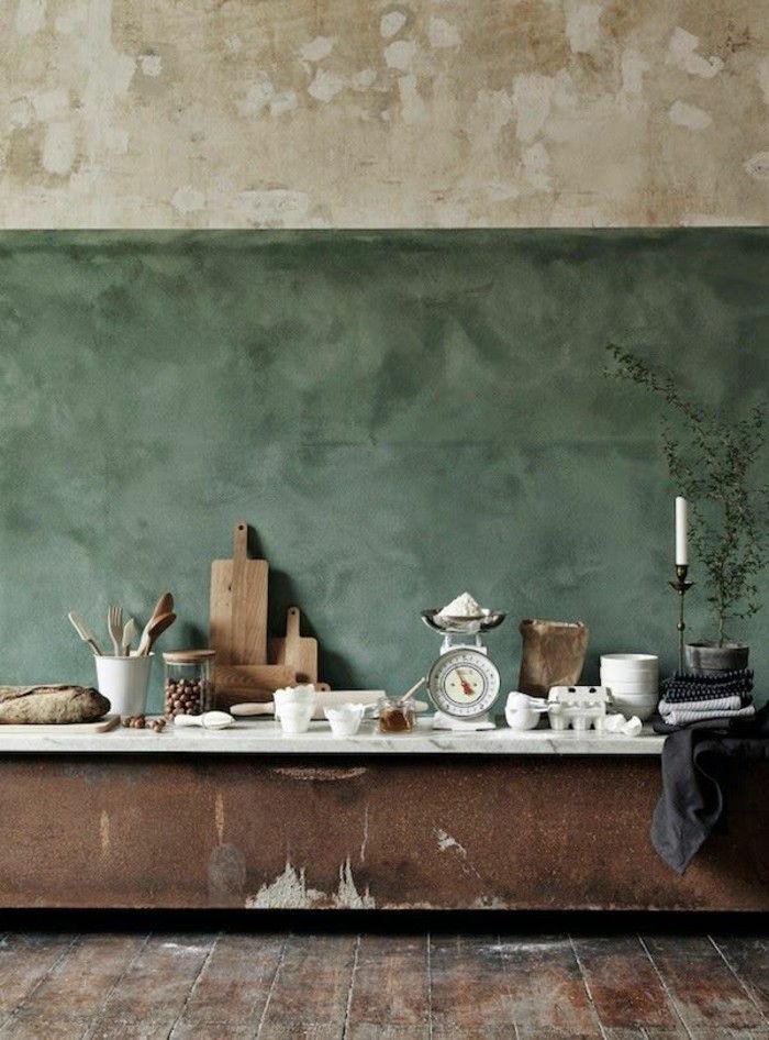 Lieblich Vintage Interior Velho Coisas Quarto Paint Idéias Dois Tom Cor