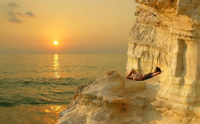 wallpaper-per-estate-rock e il tramonto