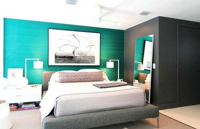 Camera Da Letto Parete Turchese : Idee di pittura per pareti camera da letto in foto