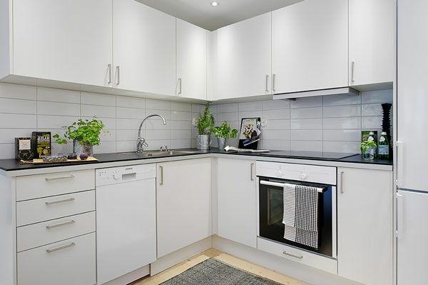 Keuken Witte Kleine : Witte kleine keukenopstelling: 30 suggesties!